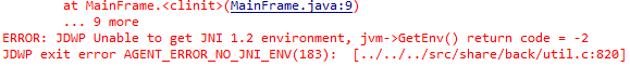 A... C error. In Java.  Huh.